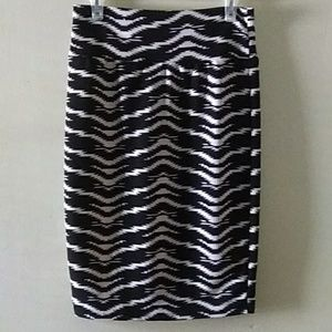 LuLaRoe Aztec print pencil skirt